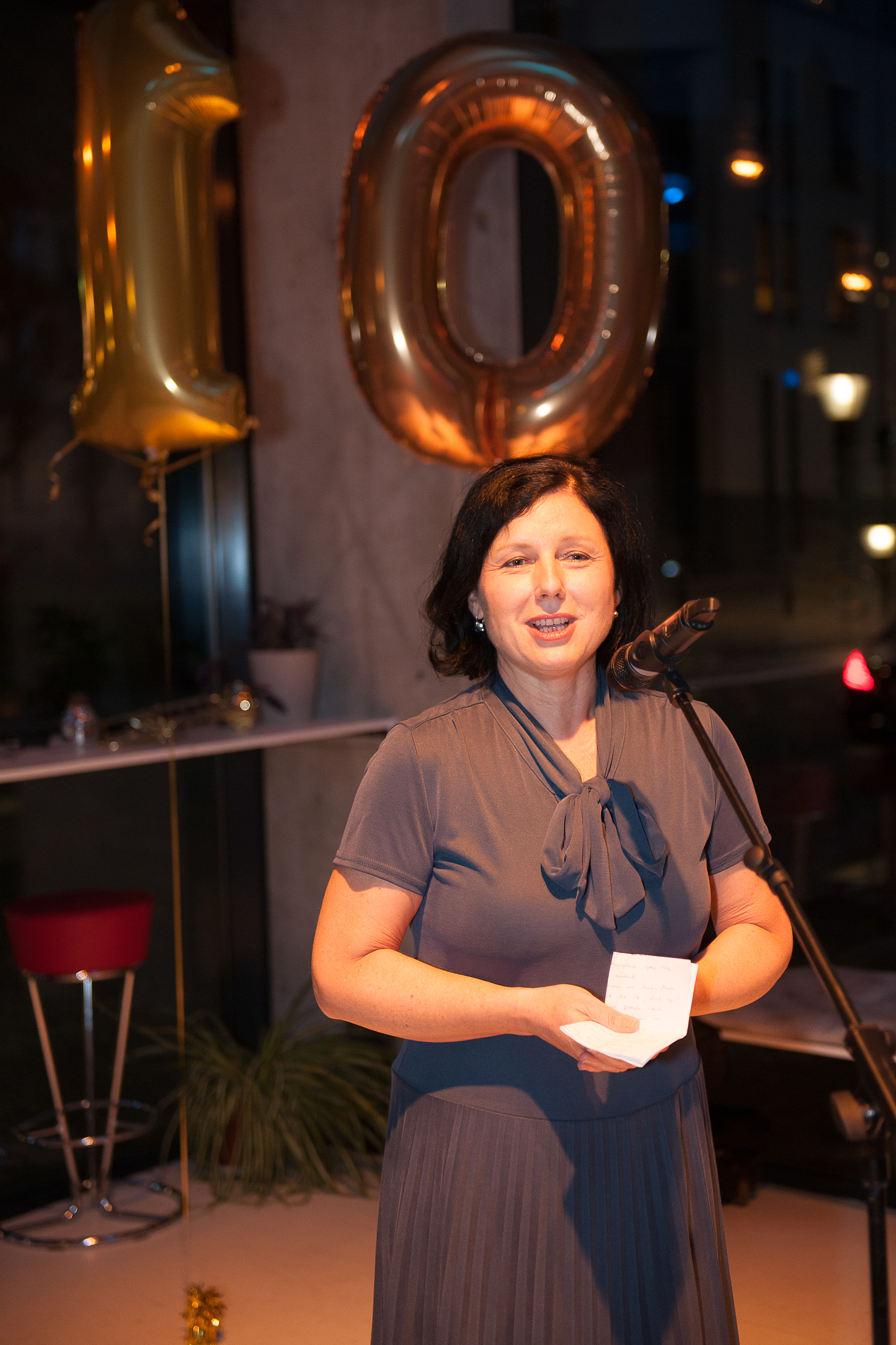 Commissioner Jourová addressing participants at Equinet's 10th anniversary