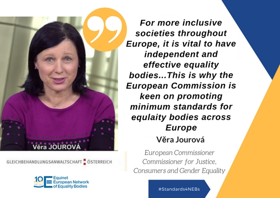 Věra Jourová on Standards for Equality Bodies