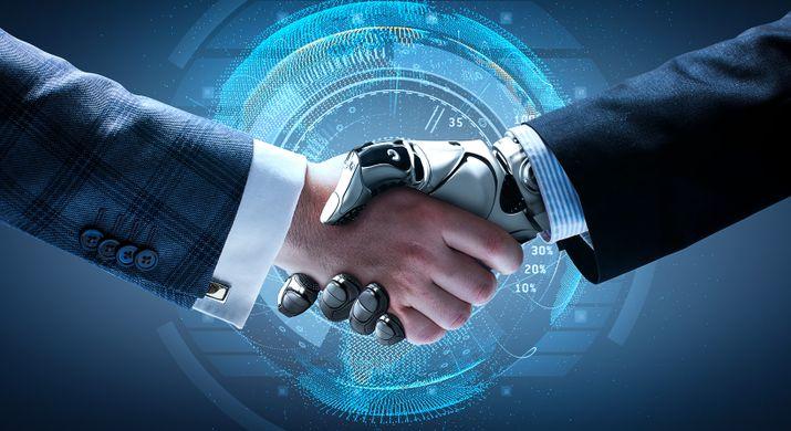 Human and Robot hand shake