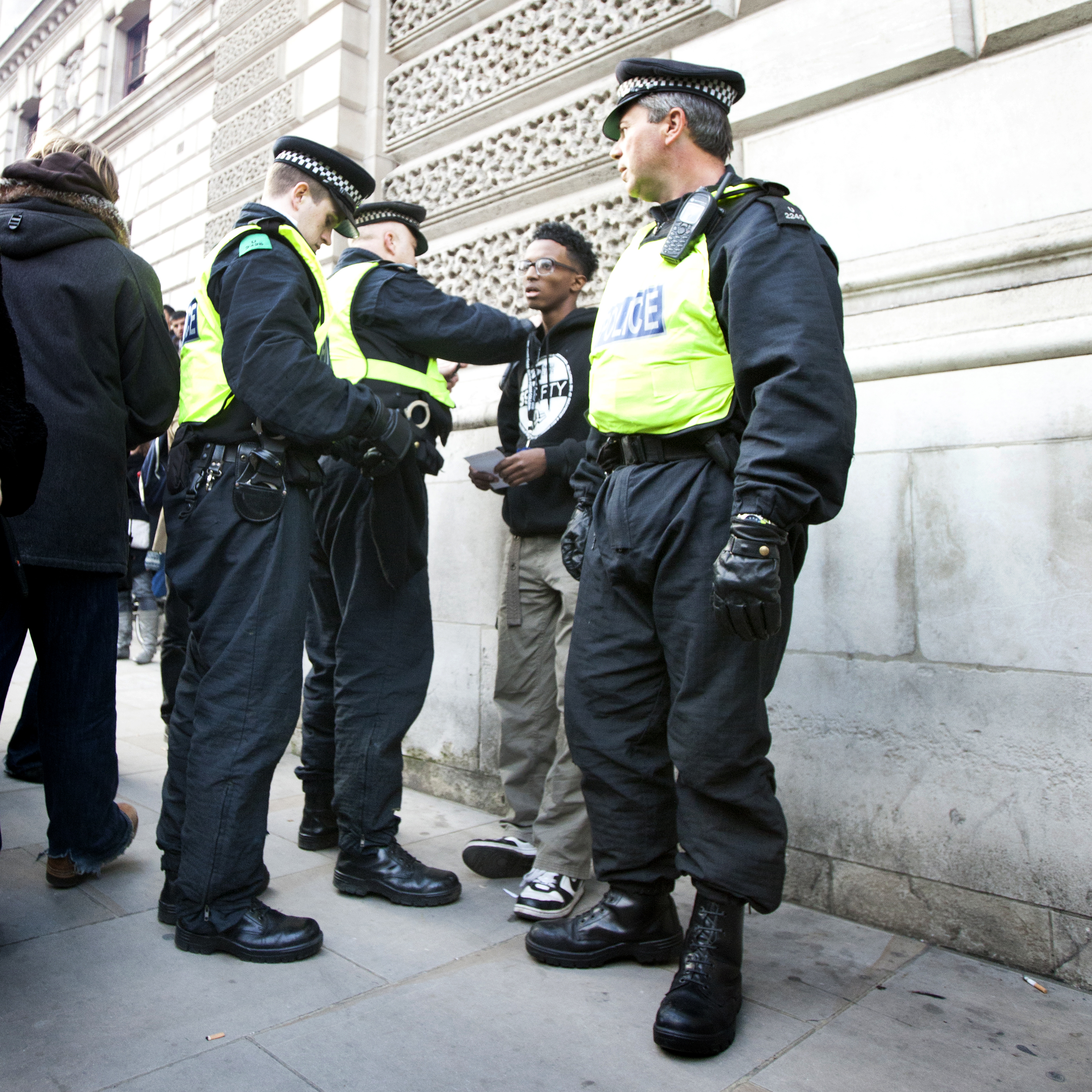 London Police stop and search