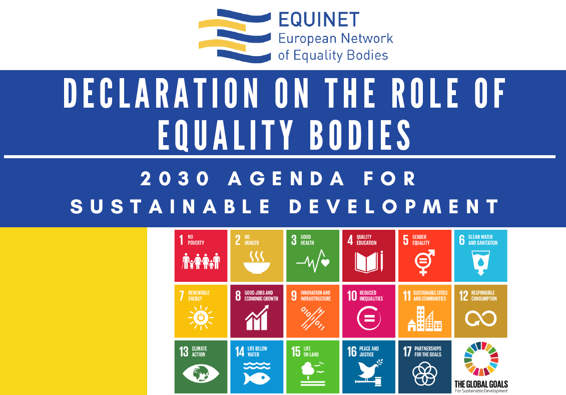 Declaration on the role of equality bodies - 2030 Agenda for Sustainable Development
