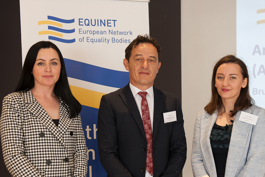 Ombudsperson Hilmi Jashari, together with colleagues Arberita Kryeziu and Edona Hajrullahu attend the Equinet AGM 2019.