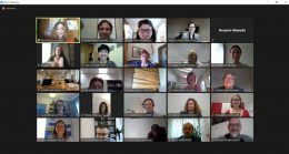 Screen shot from Equinet AGM Zoom meeting